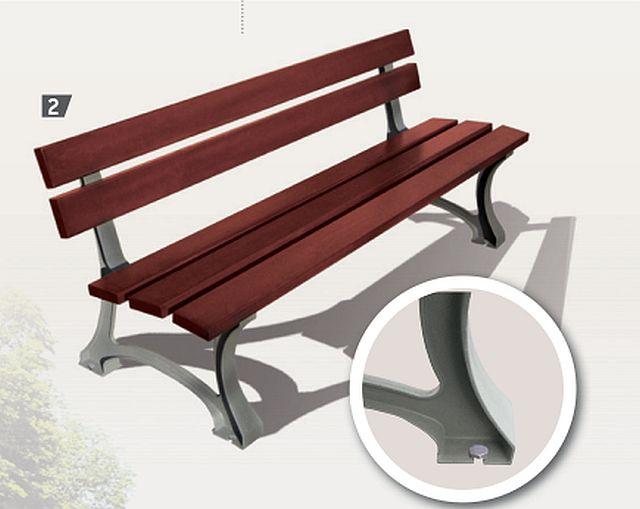 Sitzbank MORA mit Rückenlehne
