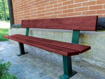 Sitzbank PAGODA mit Rückenlehne