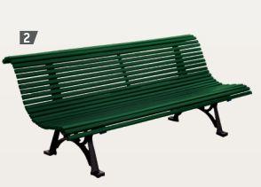 Sitzbank HÉRITAGE mit Rückenlehne