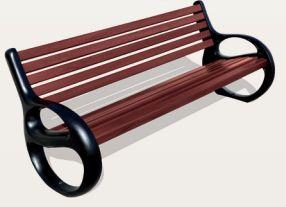 Sitzbank BARCELONA mit Rückenlehne