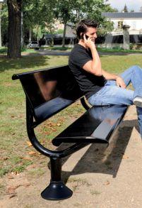 Sitzbank OSLO mit Rückenlehne