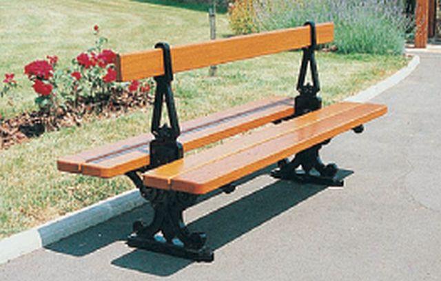 Sitzbank PARIS mit Rückenlehne