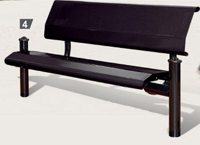 Sitzbank LUGANAO mit Rückenlehne
