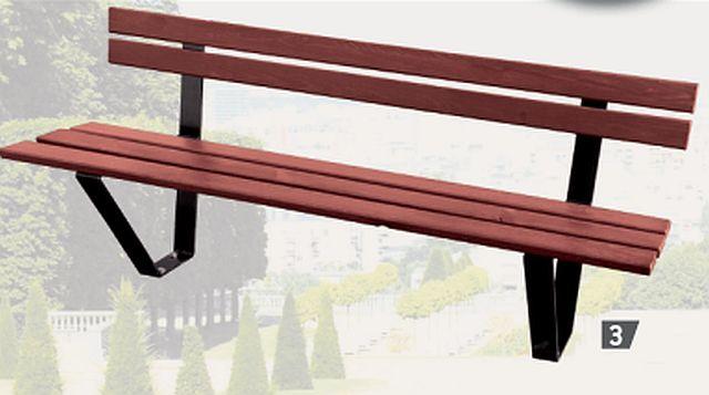 Sitzbank LUTON mit Rückenlehne