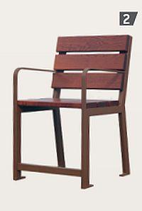 Stuhl SILAOS mit Armlehnen speziell für Senioren