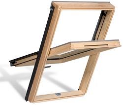 Holz-Dachfenster AURA BRONZE
