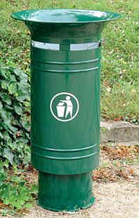 Abfallkorb CERGY, mit und ohne Korbverkleidung