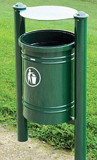 Abfallkorb SANTIAGO 40 Liter, mit 4 Kopfmodellen