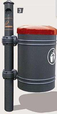 Abfallkorb GUSTAVIA 40 Liter