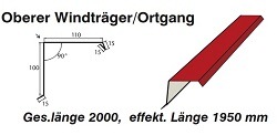 Ortgangblech 100/110 mm[Polmetal]