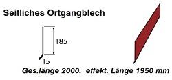 Seitliches Ortgangblech 185mm[PolmetaL]
