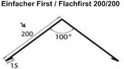 Polmetal Einfacher First / Flachfirst 200/200
