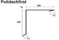 Polmetal Pultdachfirst 150/150
