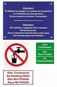 Beschriftungsset f�r Regenwasser-Nutzungsanlagen