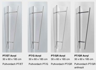 Seitenblenden Acryl für PT/ET, PT/G, PT/GR