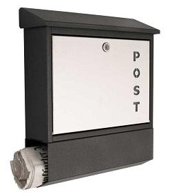 HEIBI Briefkasten mit Schriftzug POST, Materialmix