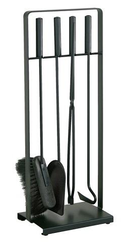 HEIBI Kaminbesteck, schwarz, 4-teilig, 64 cm