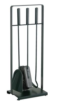 HEIBI Kaminbesteck, schwarz, 3-teilig, 64 cm