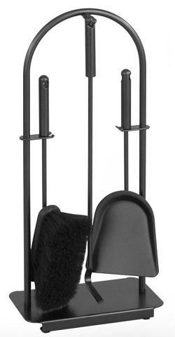 HEIBI Kaminbesteck, schwarz, 3-teilig, 57 cm