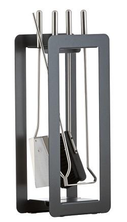 HEIBI Kaminbesteck Materialmix, 4-teilig, 59 cm