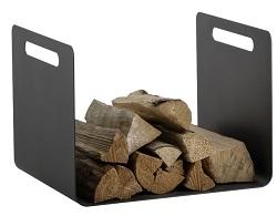 HEIBI Holzkorb mit zwei Griffen, grafitgrau