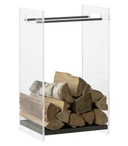 HEIBI Dekorativer Holzkorb aus Glas