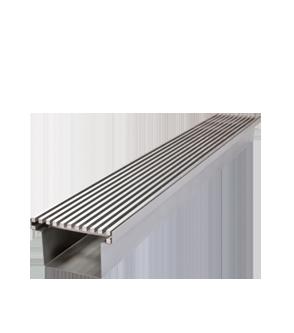 Entwässerungsrinne Stabile <br>Edelstahl (V2A)