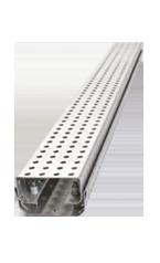 Dränagerinne Interna<br> inklusive Rost mit runder Perforation aus feuerverzinktem Stahl oder Edelstahl (V2A)