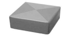 Abdeckkappen (Metall) für Pfosten [AOS]