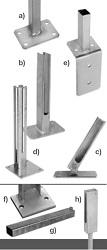 Fussplattenadapter und Fussplatten für Pfosten [AOS]