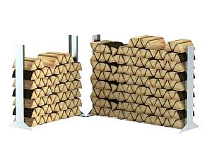 Stapelhilfe für Brennholz