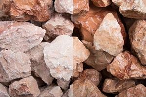 Marmor Orange Steinschlag