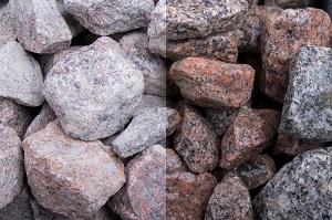 Schottischer Granit Steinschlag