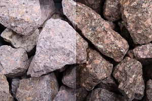 Roter Porphyr Steinschlag