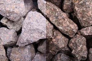 Roter Porphyr Gabionensteine
