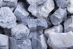 Kristall Blau Gabionensteine