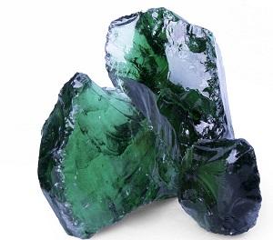 Glas Gabionenstein Green (Grün)