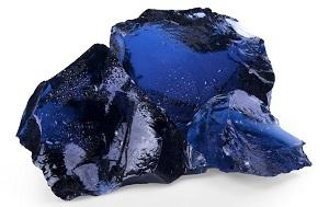 Glas Gabionenstein Blue (Blau)