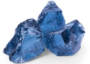 Glas Gabionenstein Royal Blue