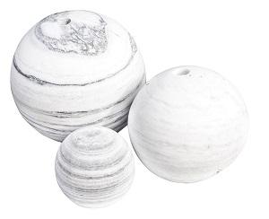 Balls gebohrt und ungebohrt Marmor