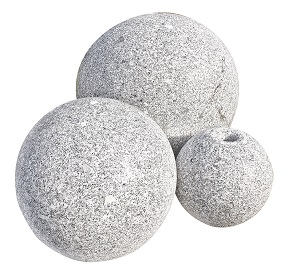Balls gebohrt und ungebohrt Granit