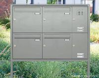 Briefkastenanlage EXPRESS BOX FS-200 mit Verkleidung RI200 (mit Funktionskasten)