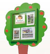 Thematischer Schaukasten KINDERWELT (Info Baum) beschichtet