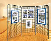 Ausstellungsgitter für Schaukästen oder Rahmen
