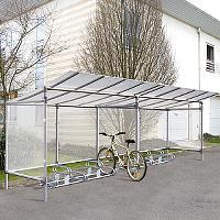 ALU-�berdachung mit Fahrradst�nder