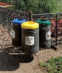 Abfallsortierbehälter GUSTAVIA 3 x 40 Liter