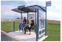CONVI®-Wartehalle - mit Schaukasten und/ oder Seitenverglasung