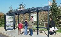 CONVI®-Wartehalle - mit beleuchtetem Caisson und/ oder Seitenverglasung