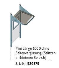 CONVI®-Wartehalle MINI - mit und ohne Seitenverglasung