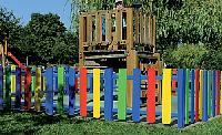 Spielplatz-Umzäunung